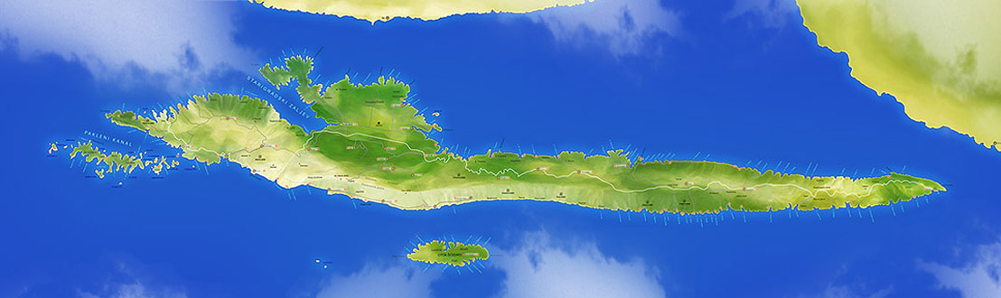 Karta otoka Hvara